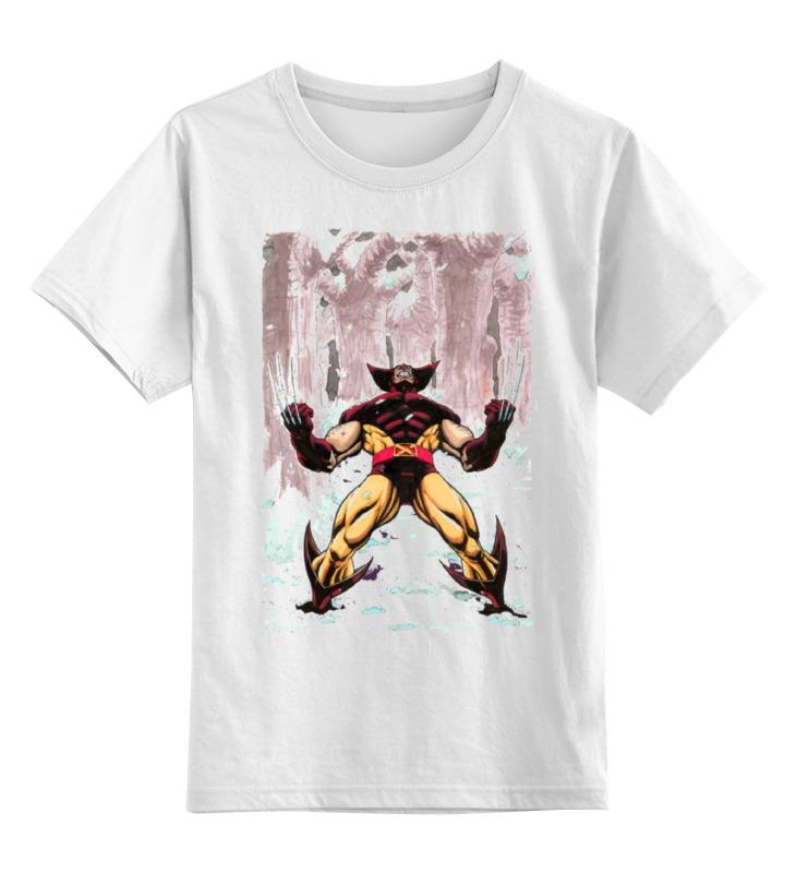 Детская футболка классическая унисекс Printio Wolverine. marvel http