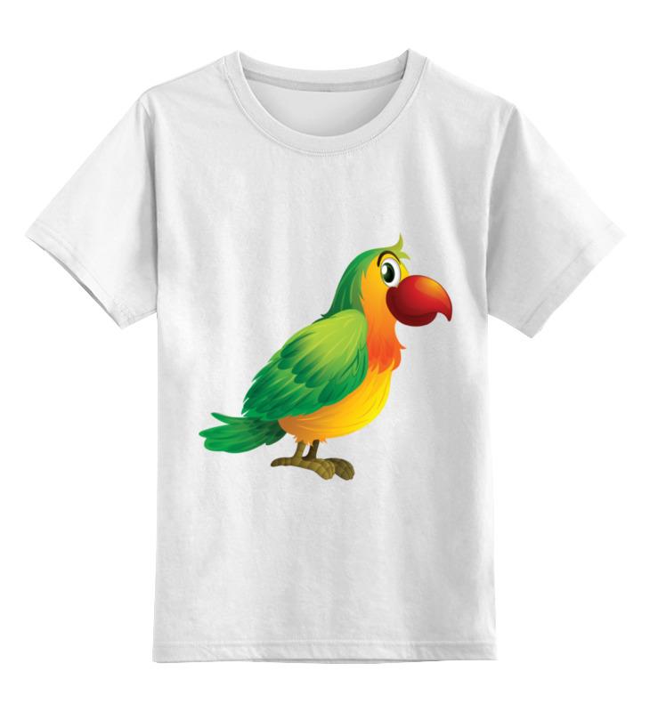 Детская футболка классическая унисекс Printio Попугай кеша цена