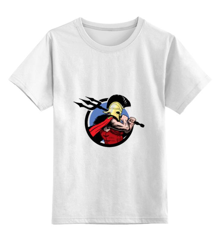 Детская футболка классическая унисекс Printio Спартанец кто мы жили были славяне