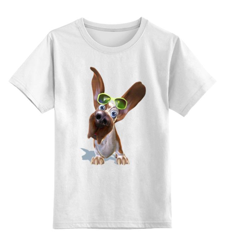 цена на Детская футболка классическая унисекс Printio Собачка в очках