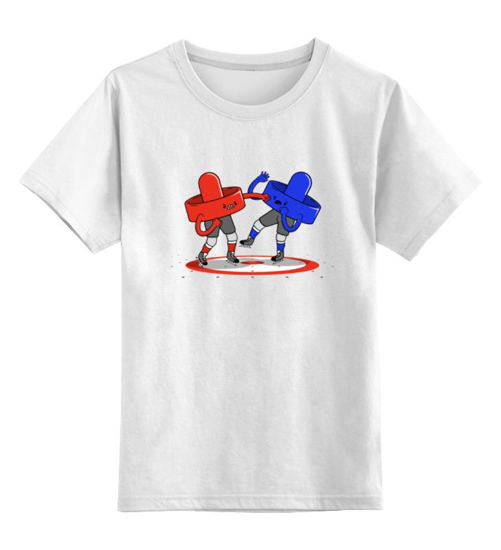Детская футболка классическая унисекс Printio Аэрохоккей (air hockey)