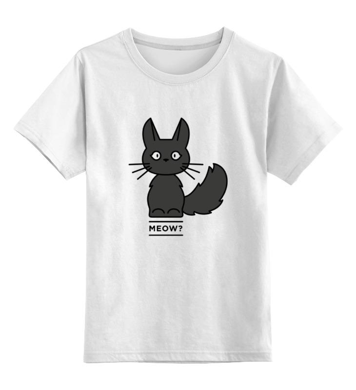 Детская футболка классическая унисекс Printio Черная кошка футболка черная детская без рисунка