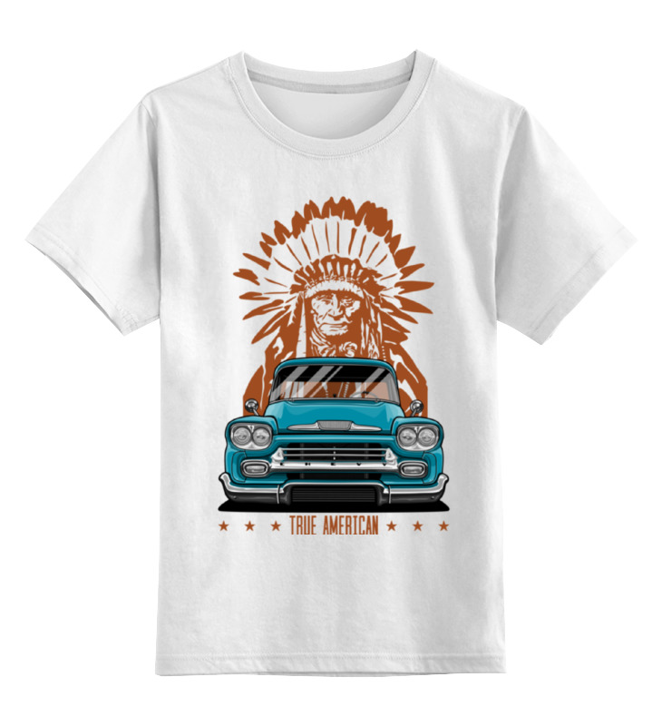Детская футболка классическая унисекс Printio Chevy apache pickup truck ultra loud bicycle air horn truck siren sound 120db