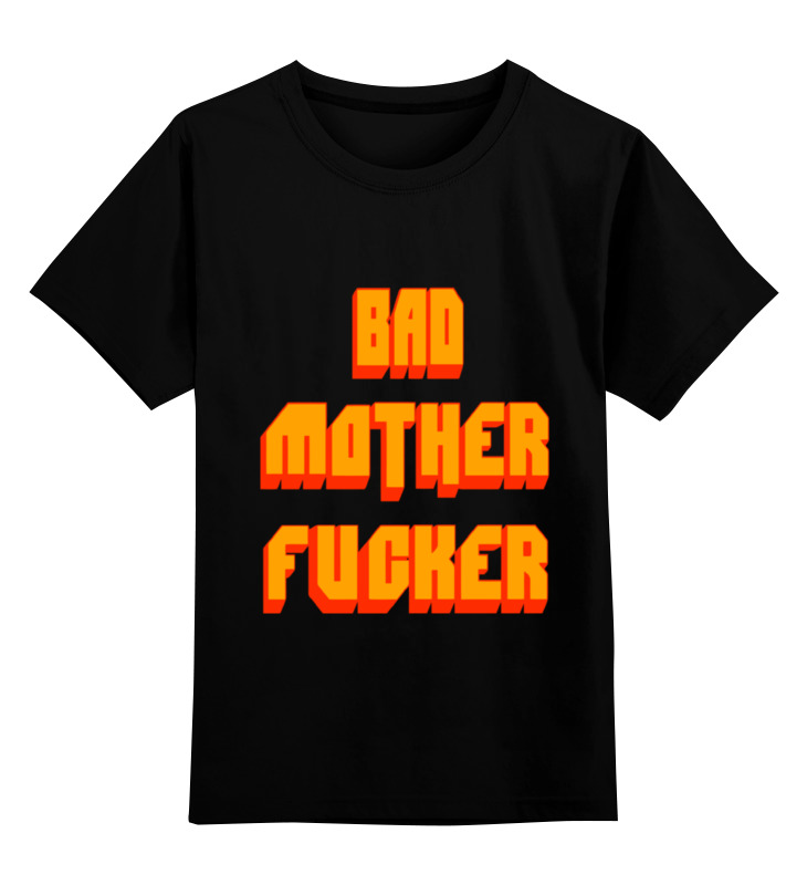 Детская футболка классическая унисекс Printio Bad mother fucker футболка wearcraft premium slim fit printio bad mother fucker