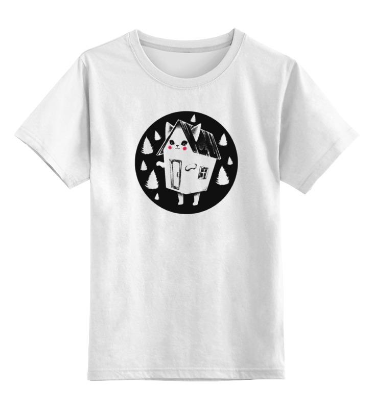 Детская футболка классическая унисекс Printio Домашний котейка домашний кабинет
