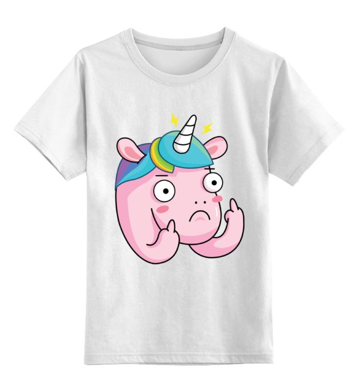 Детская футболка классическая унисекс Printio Unicorn  единорог