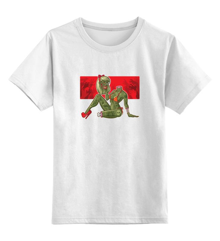 Детская футболка классическая унисекс Printio Девушка зомби детская футболка классическая унисекс printio девушка в париже