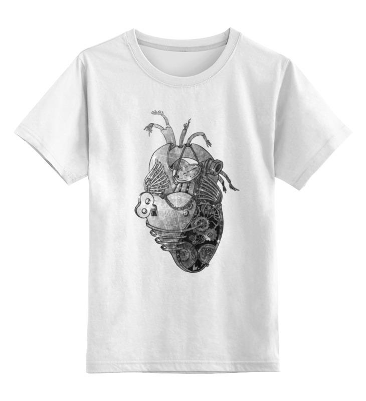 Детская футболка классическая унисекс Printio Стимпанк сердце цена