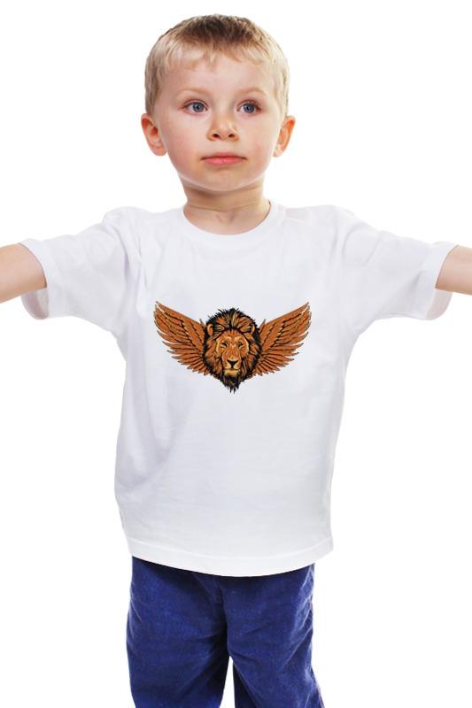 Детская футболка классическая унисекс Printio Крылатый лев детская футболка классическая унисекс printio лев