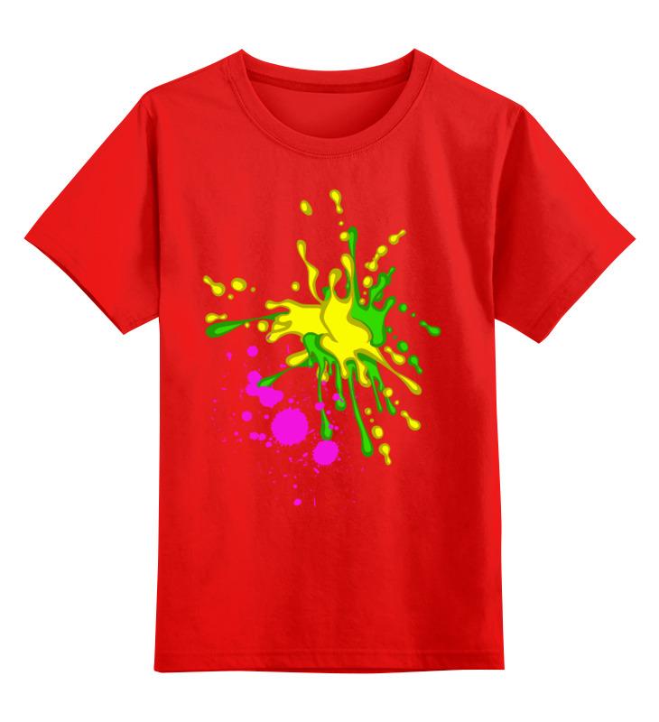 Детская футболка классическая унисекс Printio Творческие кляксы smoby детская горка king size цвет красный