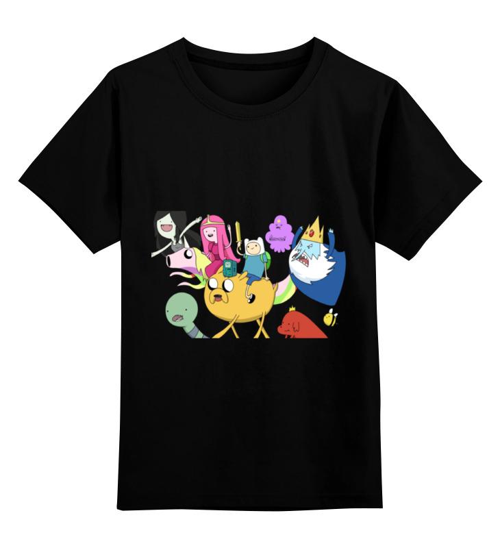 Детская футболка классическая унисекс Printio Няшный adventure time