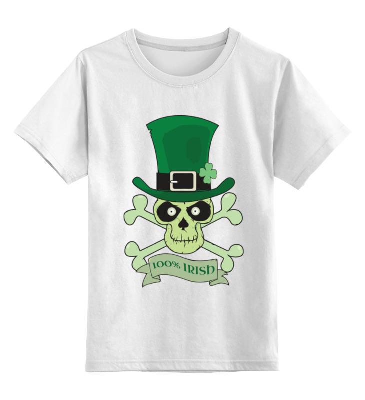 Детская футболка классическая унисекс Printio Настоящий ирландец (100% irish) футболка стрэйч printio настоящий ирландец 100% irish