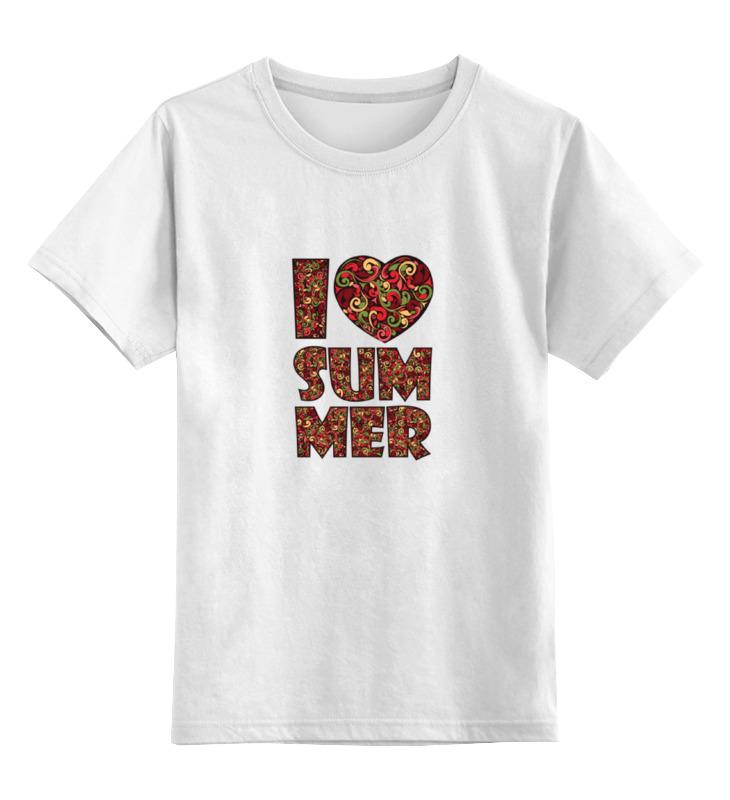 Детская футболка классическая унисекс Printio Я люблю лето детская футболка классическая унисекс printio лето