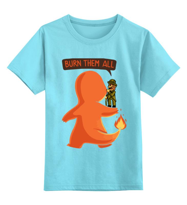Детская футболка классическая унисекс Printio Burn them all (pokemon)