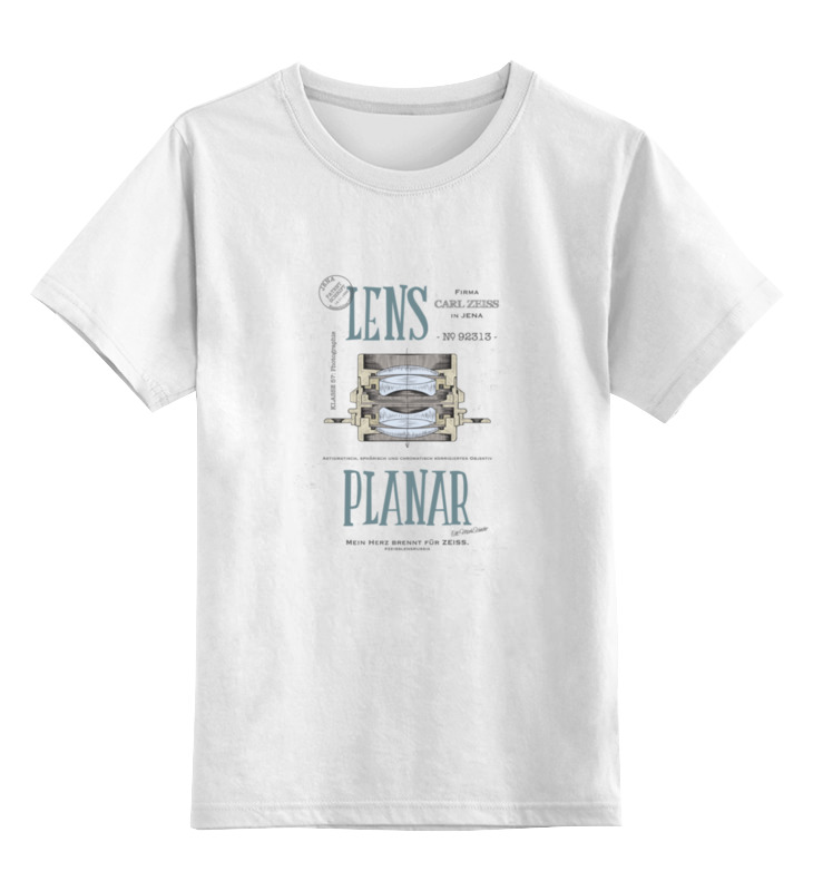 Детская футболка классическая унисекс Printio Lens planar zoom lens 10x mobile telephoto lens w mini tripod black silver