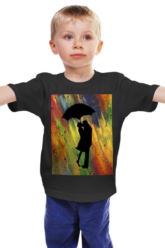 Детская футболка классическая унисекс Printio Двое под дождём мария викторовна корчагина под лондонским дождём