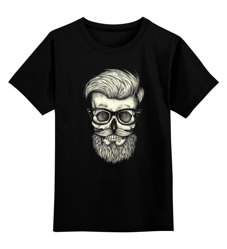 Детская футболка классическая унисекс Printio Череп хипстера