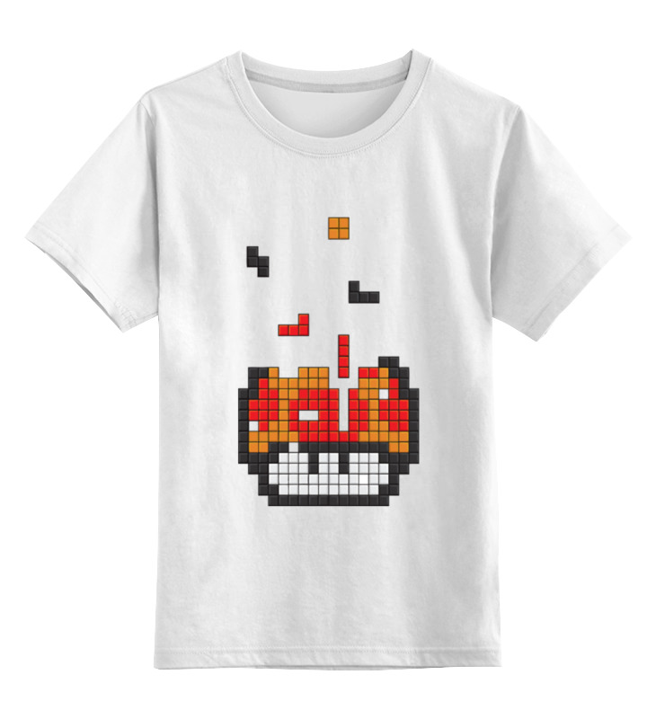 Детская футболка классическая унисекс Printio Гриб из марио (тетрис) цена и фото
