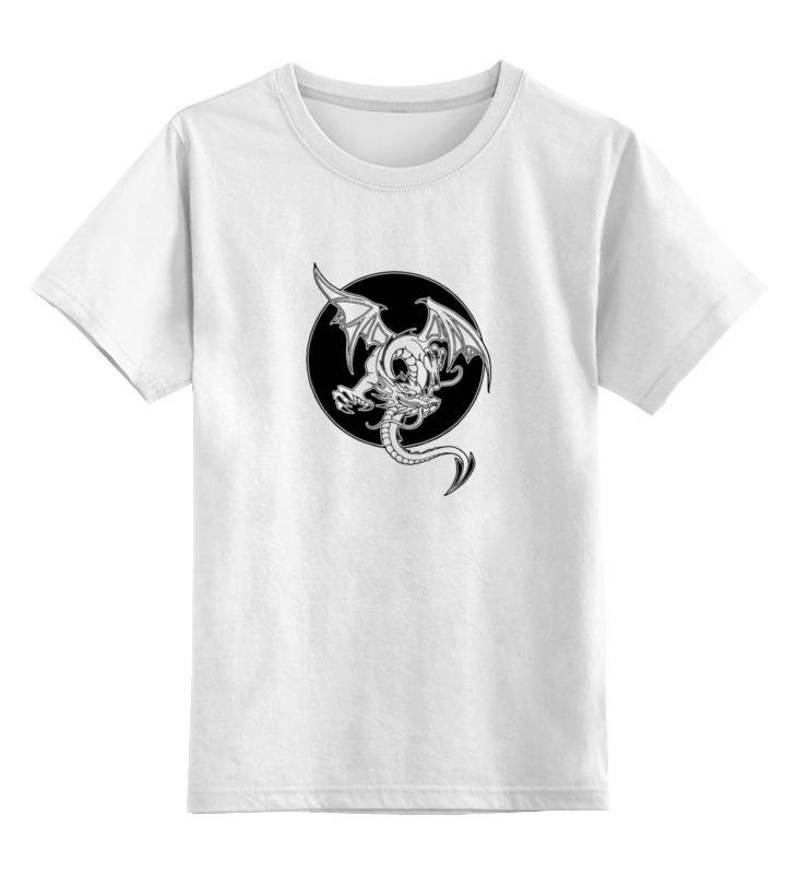 Детская футболка классическая унисекс Printio Дракон детская футболка классическая унисекс printio переходим на электромобили