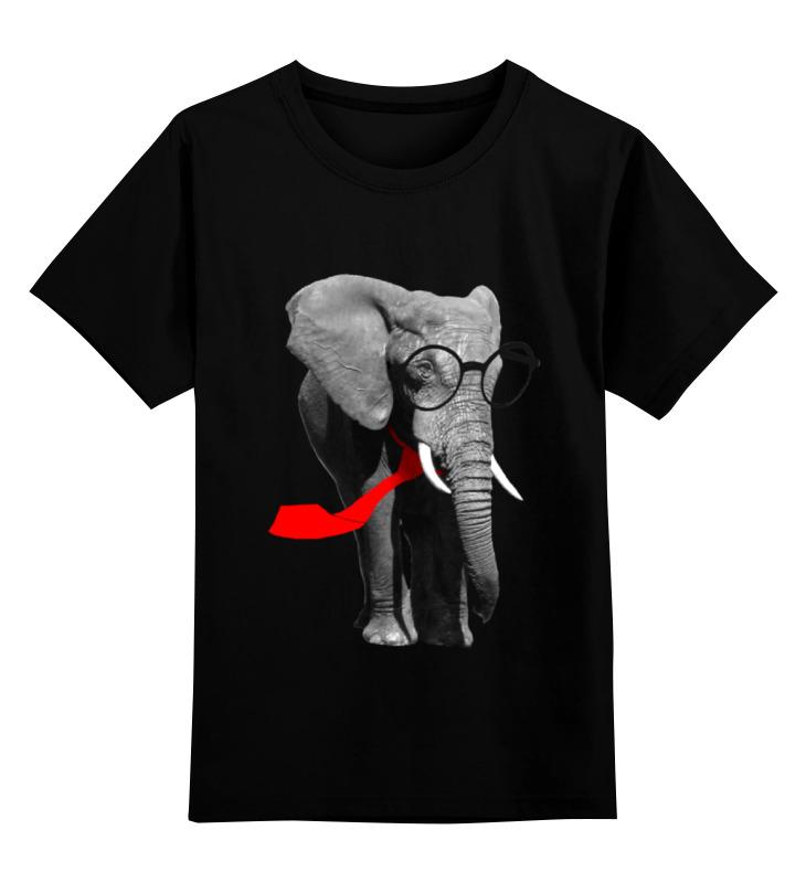 Детская футболка классическая унисекс Printio слон