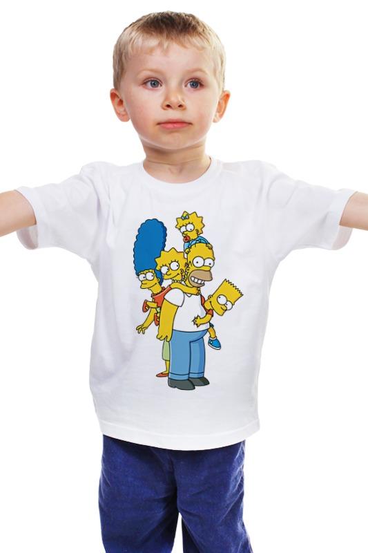 Детская футболка классическая унисекс Printio Simpsons