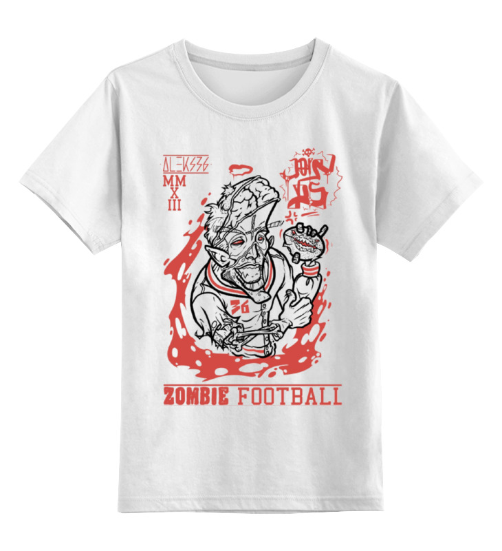 Детская футболка классическая унисекс Printio Zombie football детская футболка классическая унисекс printio zombie music