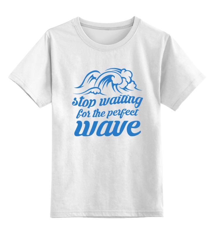 Детская футболка классическая унисекс Printio Волны футболка классическая printio ищу большую волну