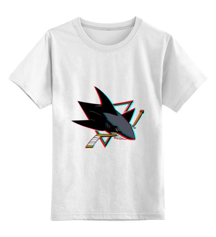 Детская футболка классическая унисекс Printio Сан-хосе шаркс майка классическая printio san jose sharks сан хосе шаркс