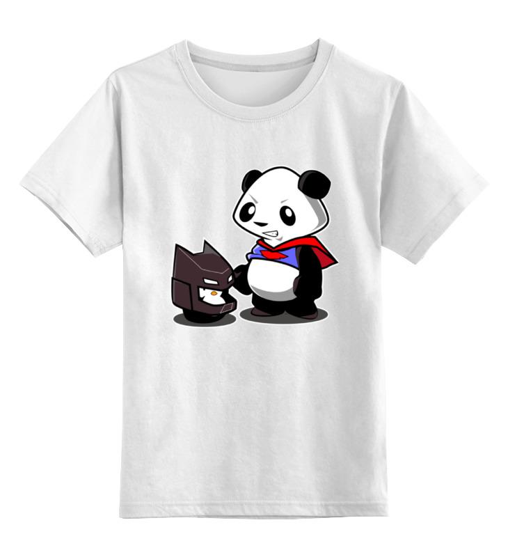 Детская футболка классическая унисекс Printio Бэтмен и панда детская футболка классическая унисекс printio король панда