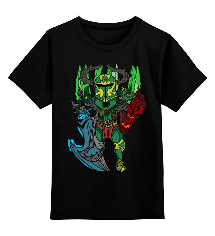 Детская футболка классическая унисекс Printio Фан арт wraith king футболка доты