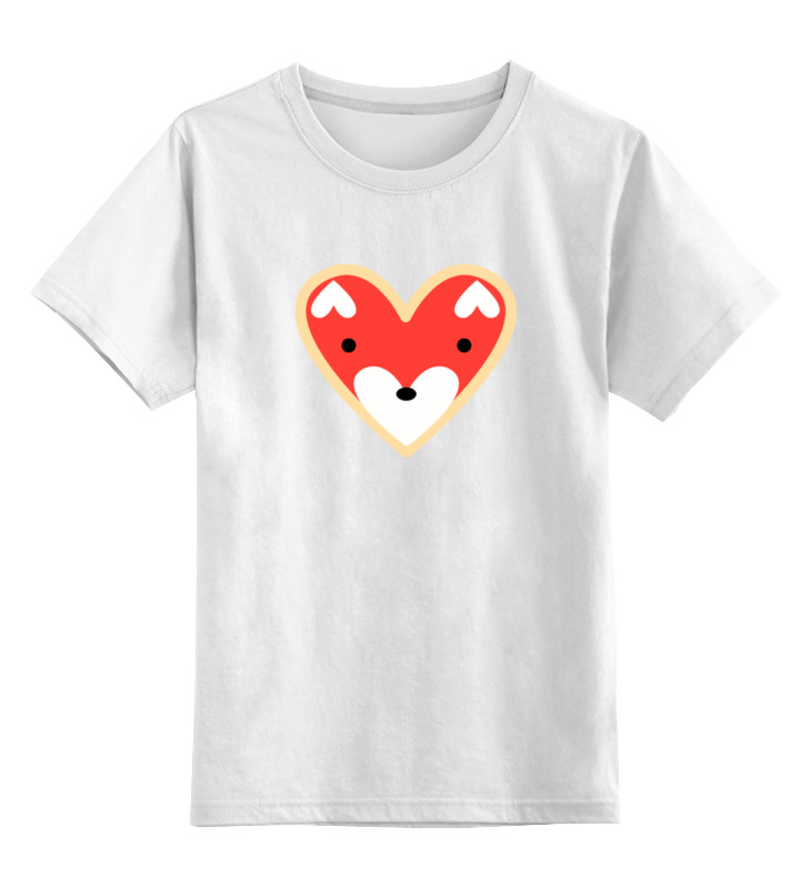 Детская футболка классическая унисекс Printio Лисичка копилка лисичка