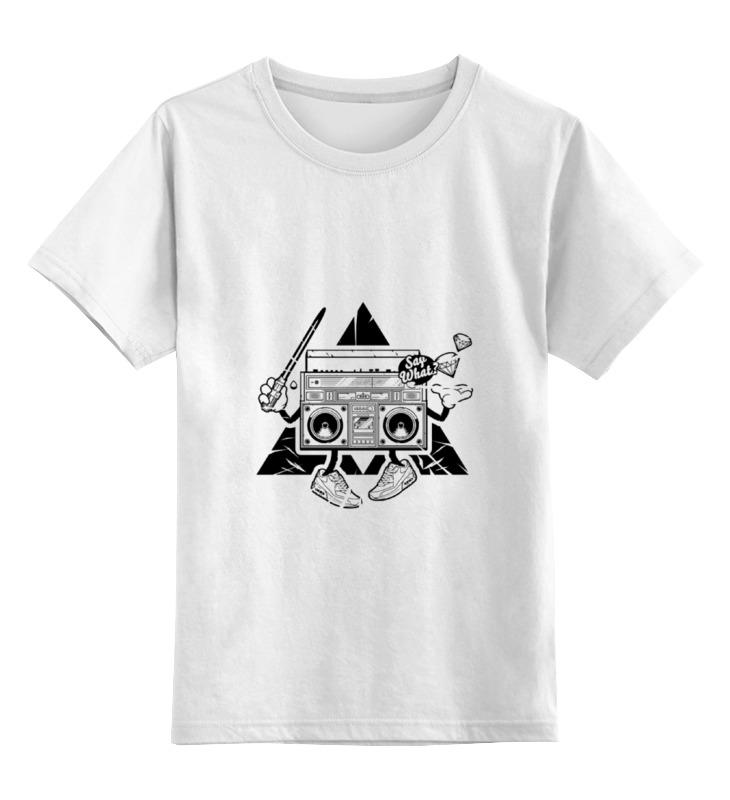 Детская футболка классическая унисекс Printio Бумбокс магнитофон