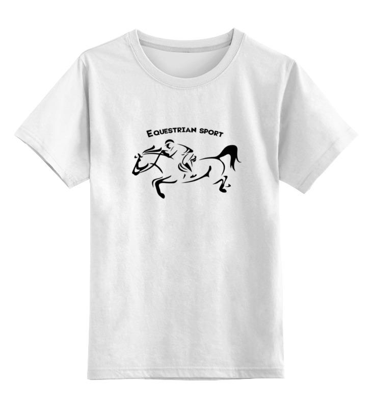 Детская футболка классическая унисекс Printio Equestrian sport equestrian print longline kimono