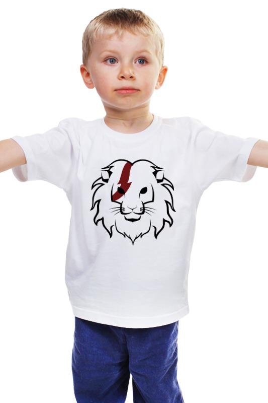Детская футболка классическая унисекс Printio Лев (lion) детская футболка классическая унисекс printio лев