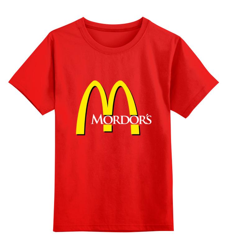 Детская футболка классическая унисекс Printio Mordor's smoby детская горка king size цвет красный