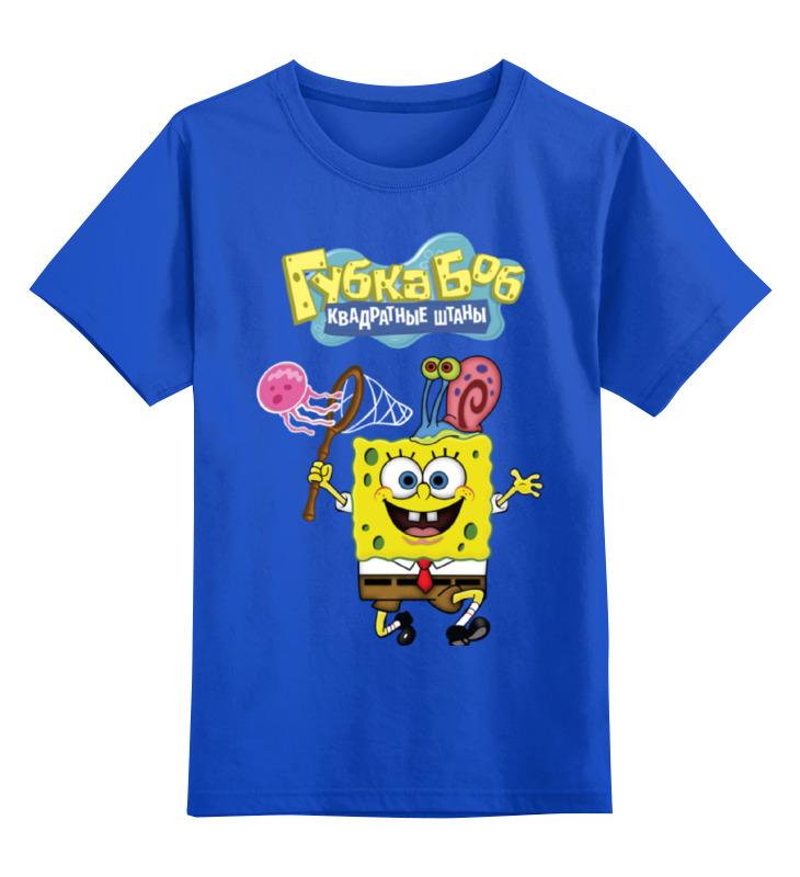 Детская футболка классическая унисекс Printio Спанч боб
