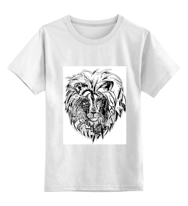 Детская футболка классическая унисекс Printio Суперлев цена и фото