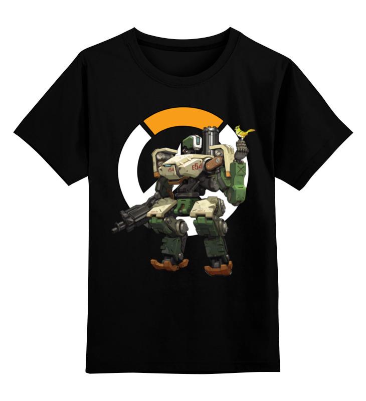 Детская футболка классическая унисекс Printio Overwatch bastion / овервотч бастион сумка с полной запечаткой printio overwatch bastion овервотч бастион