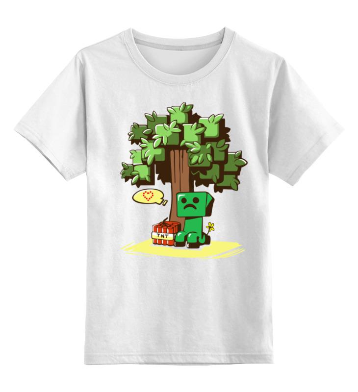 Детская футболка классическая унисекс Printio Крипер. майнкрафт детская футболка классическая унисекс printio майнкрафт