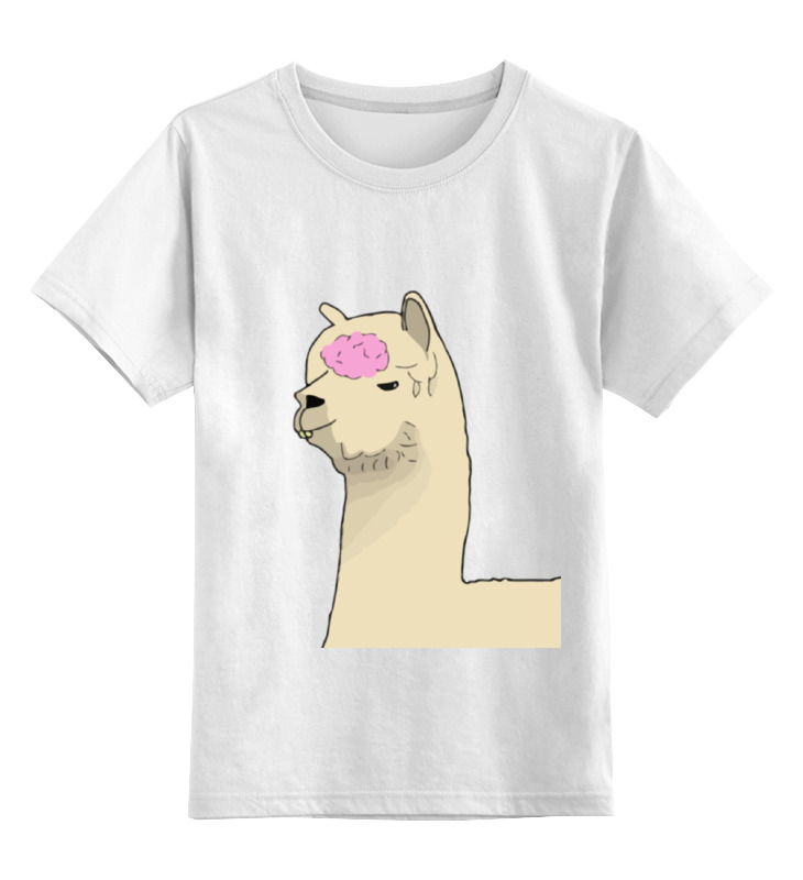 где купить Детская футболка классическая унисекс Printio Альпака фред по лучшей цене