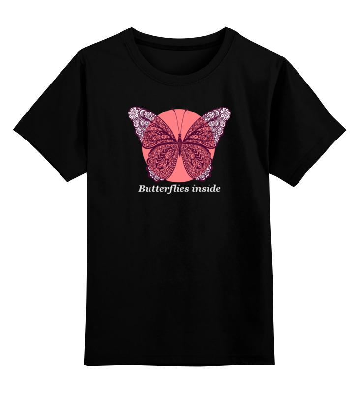 Детская футболка классическая унисекс Printio Бабочки внутри