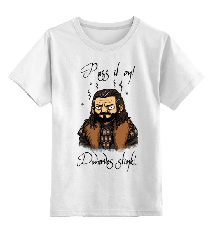 Фото - Детская футболка классическая унисекс Printio Хоббит (the hobbit) обложка для паспорта printio хоббит the hobbit