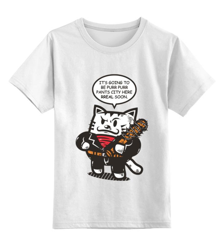 Детская футболка классическая унисекс Printio Ниган - кот детская футболка классическая унисекс printio ниган кот