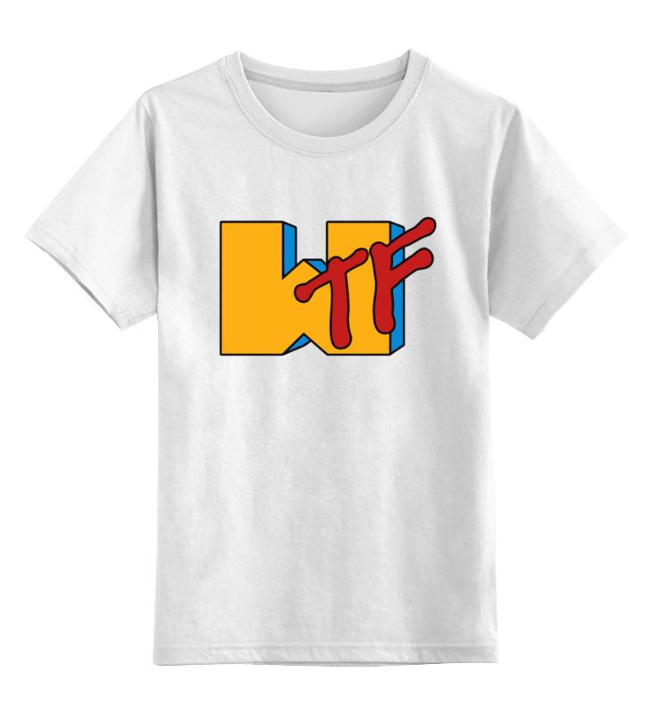 Детская футболка классическая унисекс Printio Wtf (какого черта) сумка printio wtf какого черта