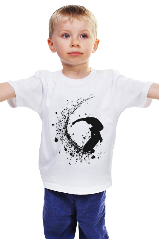 Детская футболка классическая унисекс Printio Серфинг