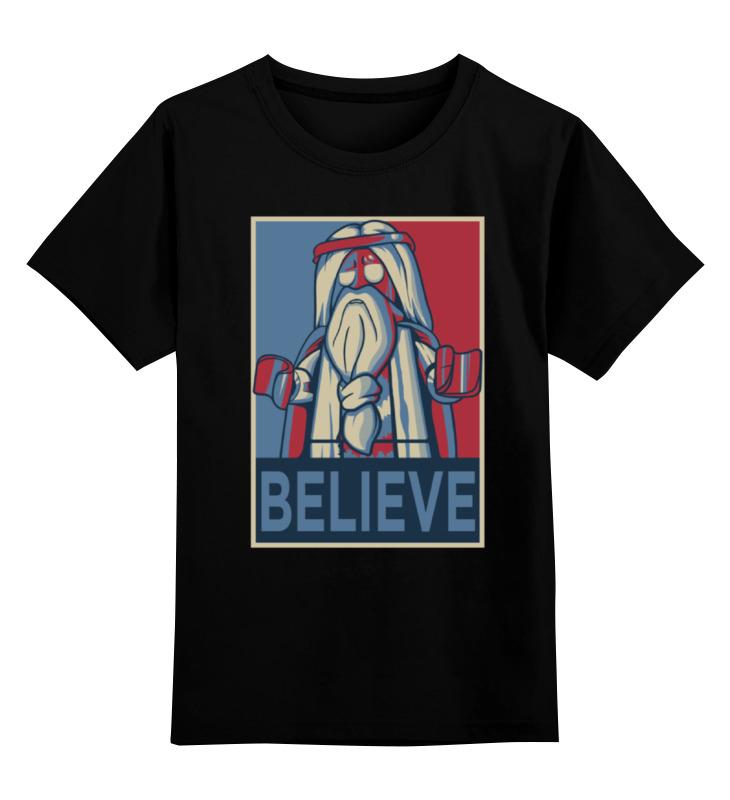 Детская футболка классическая унисекс Printio Believe недорго, оригинальная цена