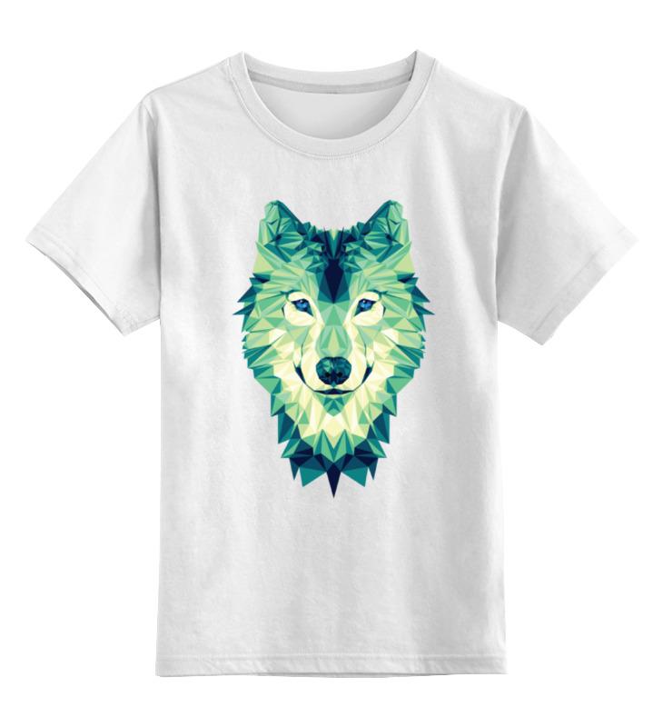 Детская футболка классическая унисекс Printio Полигональный волк