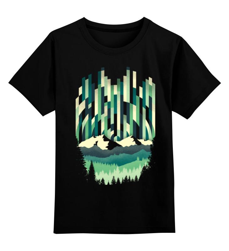 Детская футболка классическая унисекс Printio Холодный закат тамоников а холодный свет луны