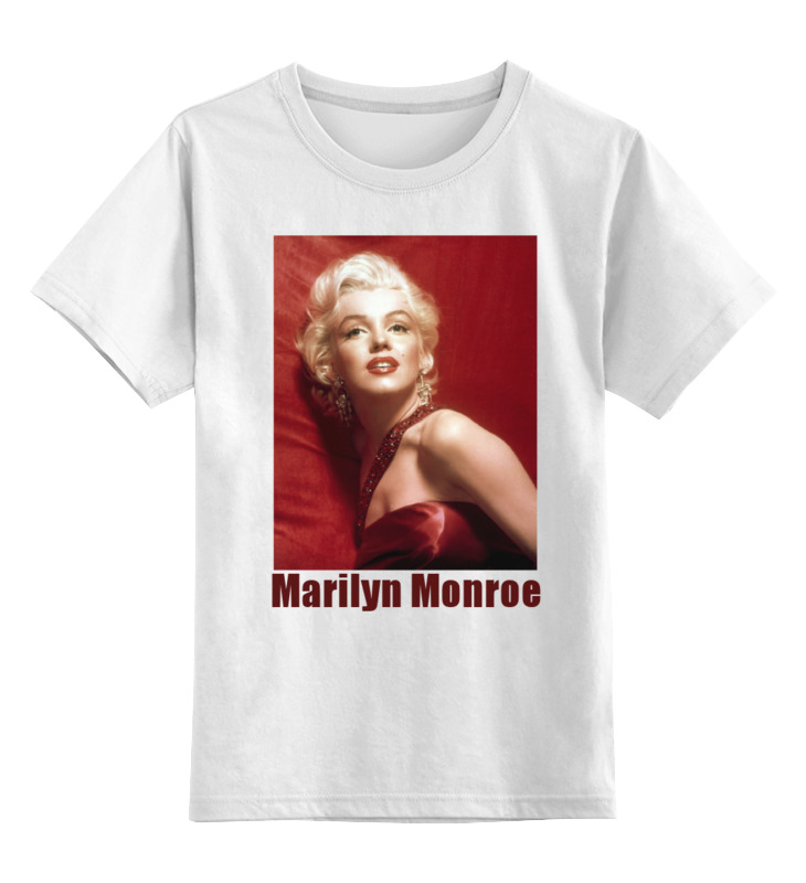 Детская футболка классическая унисекс Printio Marilyn monroe red футболка рингер printio marilyn monroe