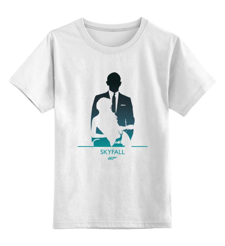 """Детская футболка классическая унисекс Printio 007: координаты скайфолл майка классическая printio 007 координаты """"скайфолл"""